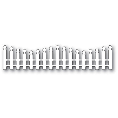 Poppystamps Die - Wavy Long Picket Fence