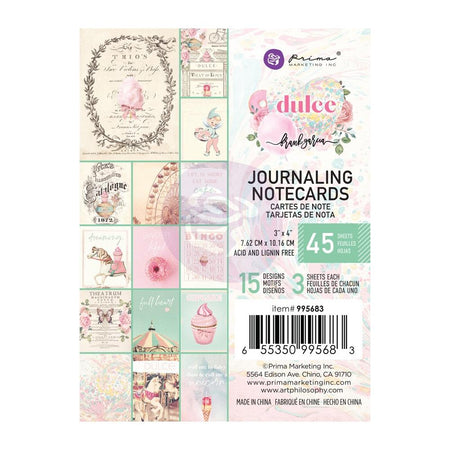 Prima Dulce - 3x4 Journaling Notecards