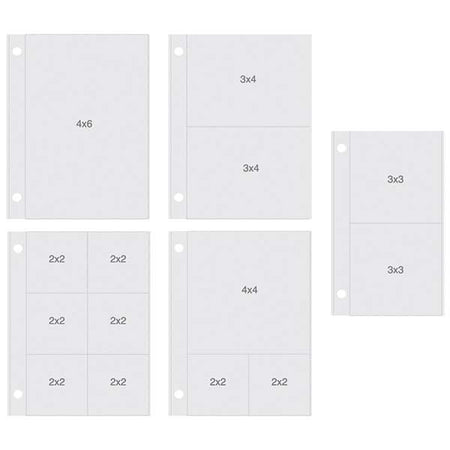 Simple Stories Sn@p - 4x6 Page Protectors Vertical Variety Pack