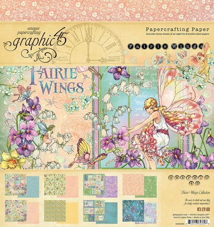 Graphic 45 Fairie Wings - 8x8 Pad