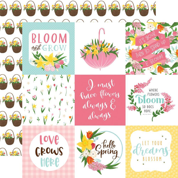 Echo Park I Love Spring - 4x4 Journaling Cards
