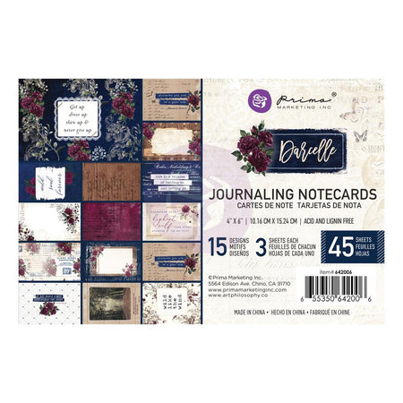 Prima Darcelle - 4x6 Journaling Notecards