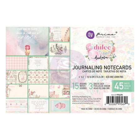 Prima Dulce - 4x6 Journaling Notecards