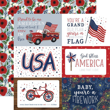 Echo Park America The Beautiful - 4x6 Journaling Cards