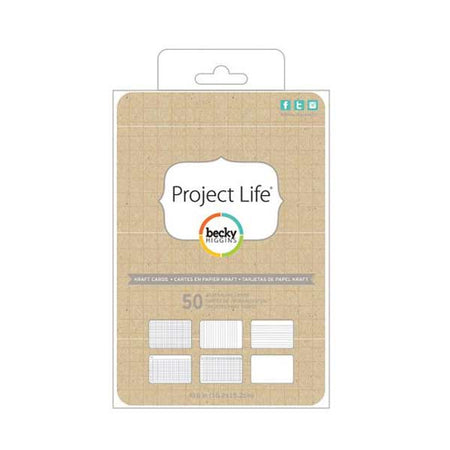 Project Life 4x6 Journaling Cards - Kraft
