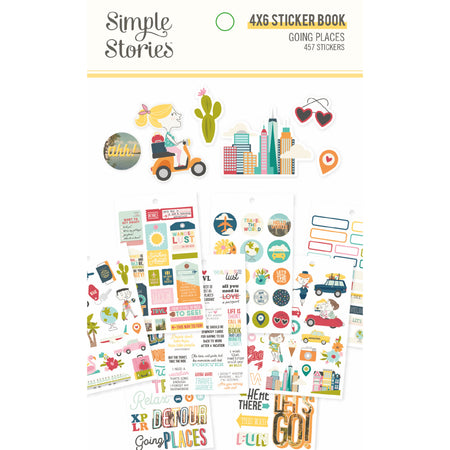 Simple Stories Going Places - Sticker Book