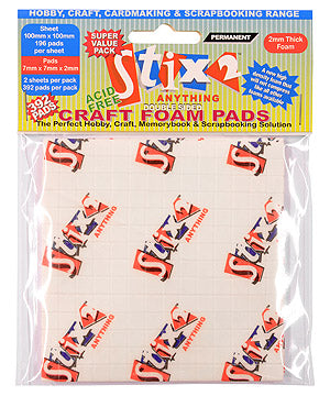 Stix2 Craft Foam Pads 7mm x 7mm x 2mm