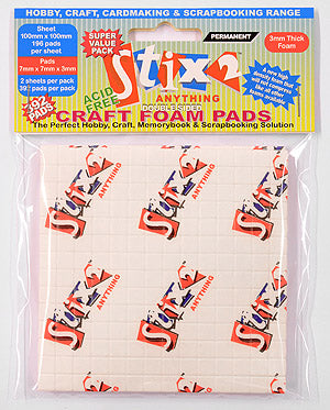 Stix2 Craft Foam Pads 7mm x 7mm x 3mm