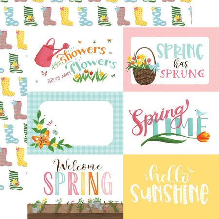 Echo Park I Love Spring - 6x4 Journaling Cards