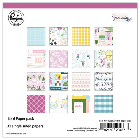 Pinkfresh Studio Noteworthy - 6x6 Pad
