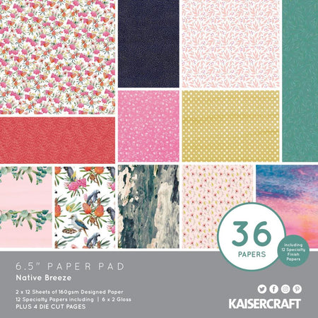 Kaisercraft Native Breeze - 6.5x6.5 Paper Pad