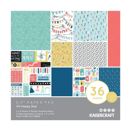 Kaisercraft Oh Happy Day - 6.5x6.5 Paper Pad