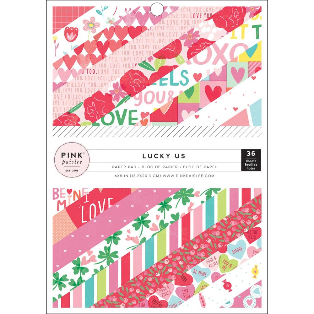 Pink Paislee Lucky Us - 6x8 Pad