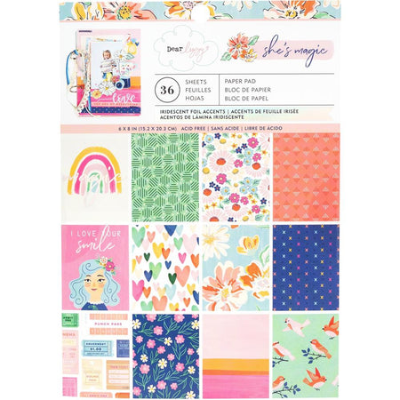 American Crafts Dear Lizzy She's Magic - 6x8 Paper Pad