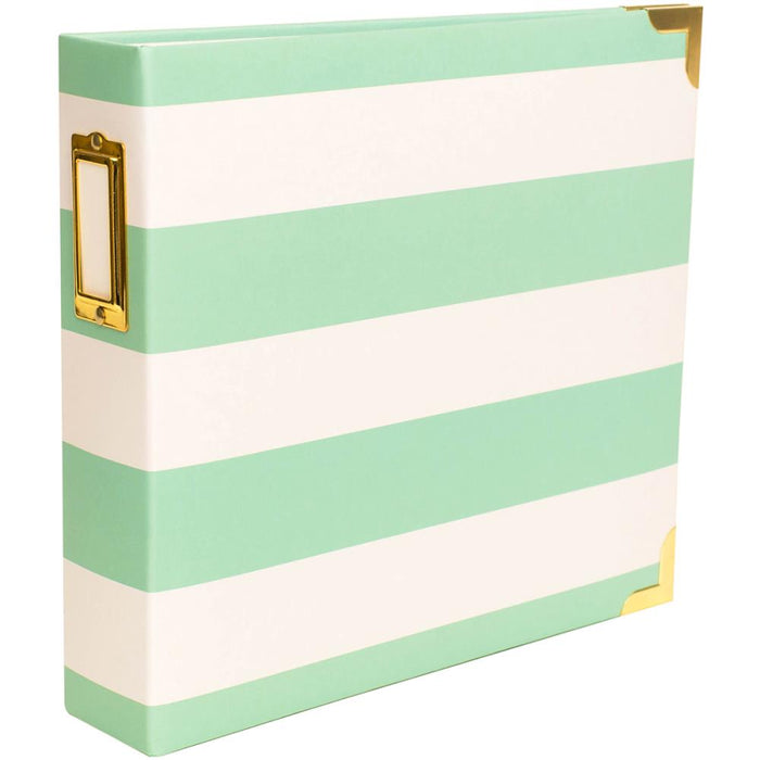Project Life 8x8 Album - Heidi Swapp Teal Stripes