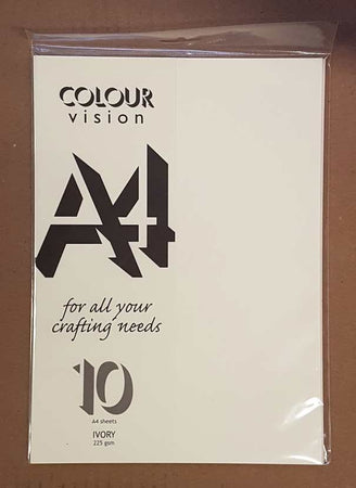 Craft UK Ivory A4 Card 10 Pack
