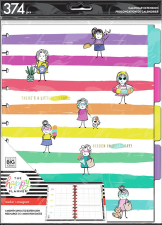 Me & My Big Ideas Happy Planner - Stick Girl Hooray Big Teacher Extension Pack