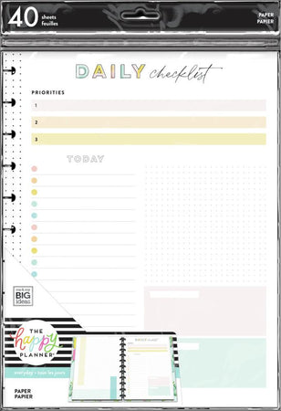 Me & My Big Ideas Happy Planner - Happy Plans Big Fill Paper