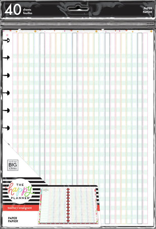 Me & My Big Ideas Happy Planner - Teacher Checklist Big Fill Paper