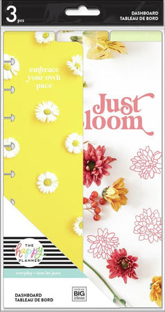 Me & My Big Ideas Happy Planner - Pressed Florals Classic Dashboard
