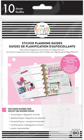Me & My Big Ideas Happy Planner - Mini Clear Sticker Planning Guides