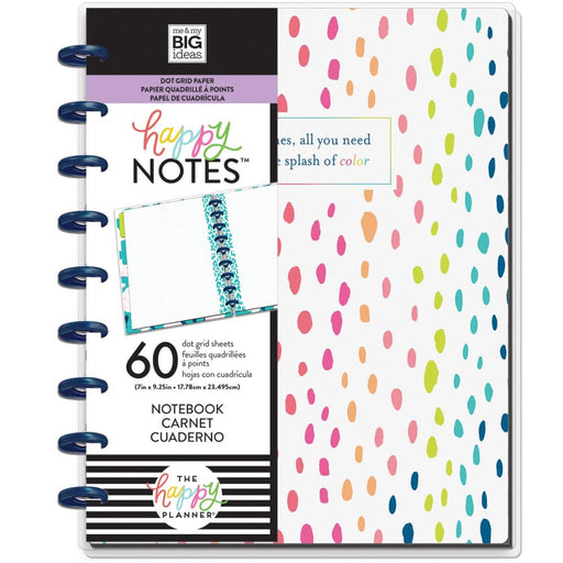 Me & My Big Ideas Happy Notes - A Little Splash of Color Classic Notebook (Dot Grid)