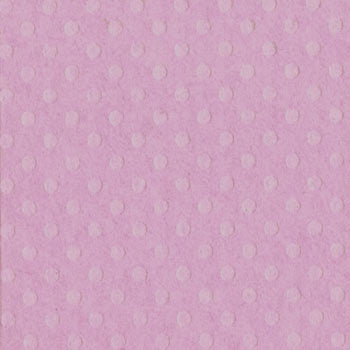 Bazzill 12x12 Dotted Swiss - Berry Pretty