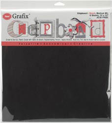 Black Chipboard Sheets - 12 x 12 Pack