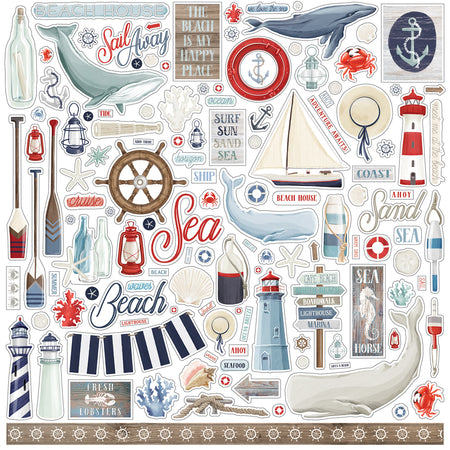 Carta Bella By The Sea - Element Stickers