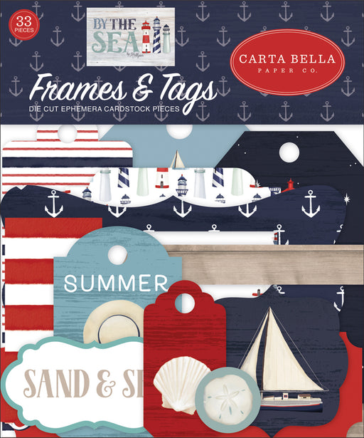 Carta Bella By the Sea - Ephemera Frames & Tags