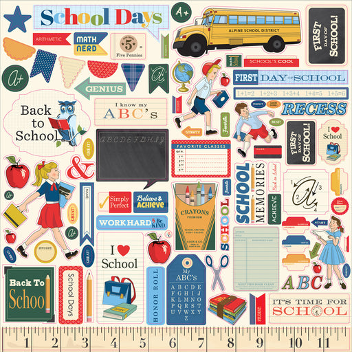 Carta Bella School Days - Element Stickers