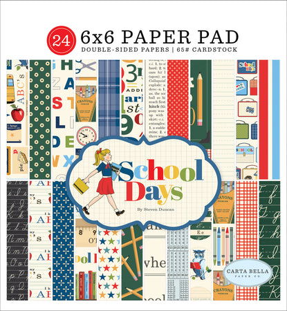 Carta Bella School Days - 6x6 Paper Pad