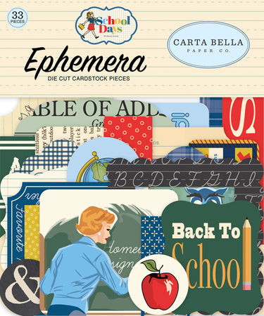 Carta Bella School Days - Ephemera