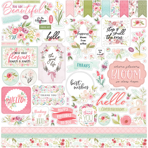 Carta Bella Flora No 3 - Element Stickers