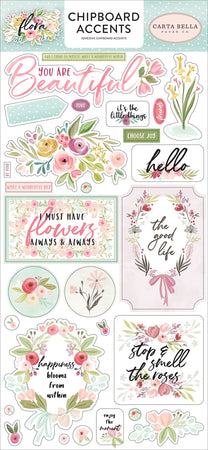 Carta Bella Flora No 3 - Chipboard Accents