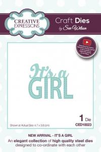 Creative Expressions Craft Die by Sue Wilson - It's a Girl