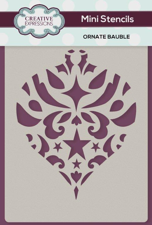 Creative Expressions Mini Stencil - Ornate Bauble