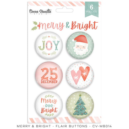 Cocoa Vanilla Studio Merry & Bright - Flair Buttons