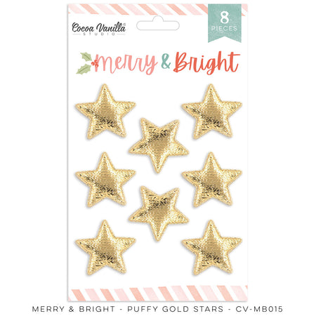 Cocoa Vanilla Studio Merry & Bright Puffy Gold Stars