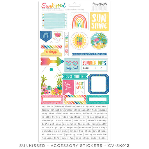 Cocoa Vanilla Studio Sunkissed - Accessory Stickers