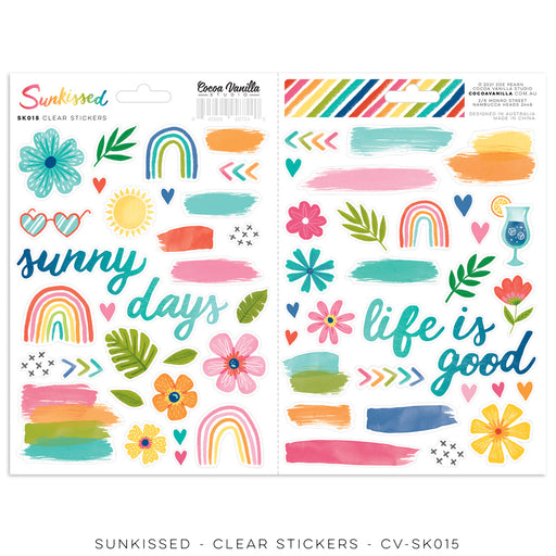 Cocoa Vanilla Studio Sunkissed - Clear Stickers