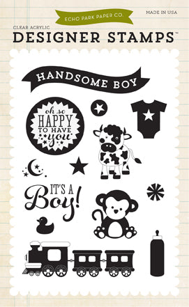 Echo Park Bundle of Joy Boy/New Addition - It's A Boy Stamps