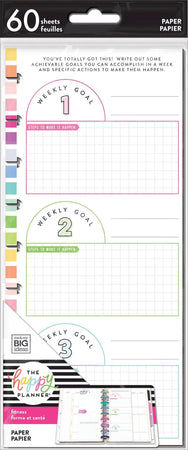 Me & My Big Ideas Happy Planner - Half Sheet Fitness Fill Paper