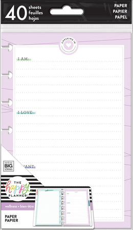 Me & My Big Ideas Happy Planner - Mini Fill Paper Wellness Mood Tracker