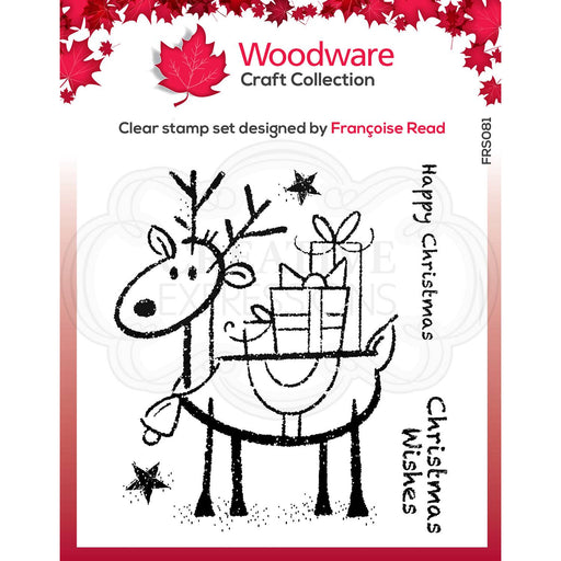 Woodware Clear Magic Stamp - Rudolph Pressies