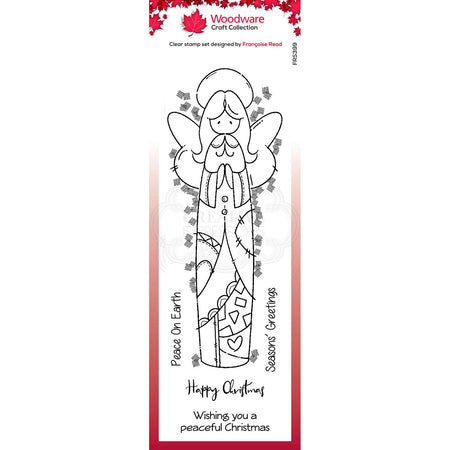 Woodware Clear Magic Stamps - Patch Angel
