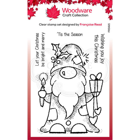 Woodware Clear Magic Stamps - Seasonal Gnome
