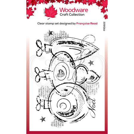 Woodware Clear Magic Stamps - Three Baubles
