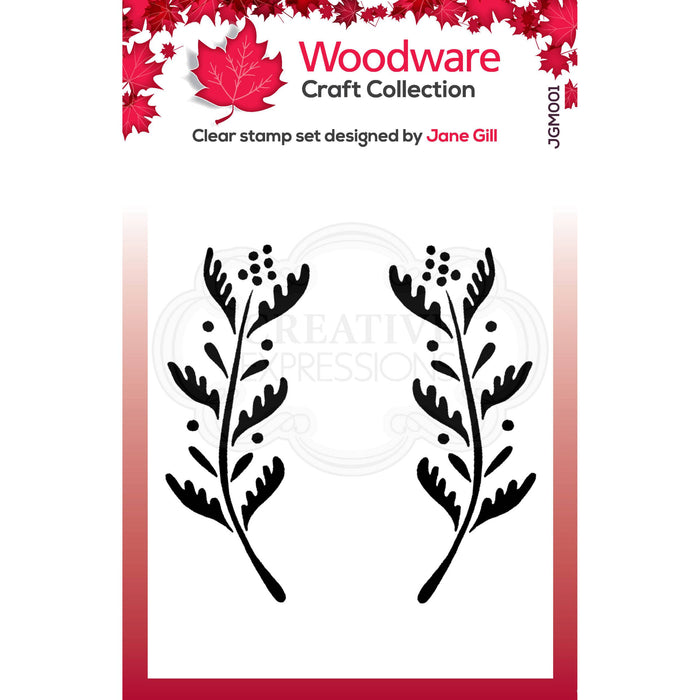 Woodware Clear Magic Stamps - Ellie Leaf