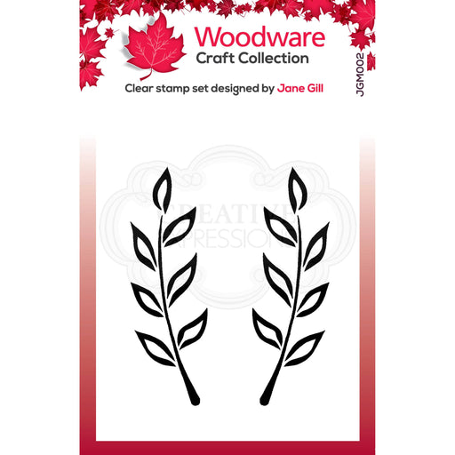 Woodware Clear Magic Stamps - Fiona Leaf